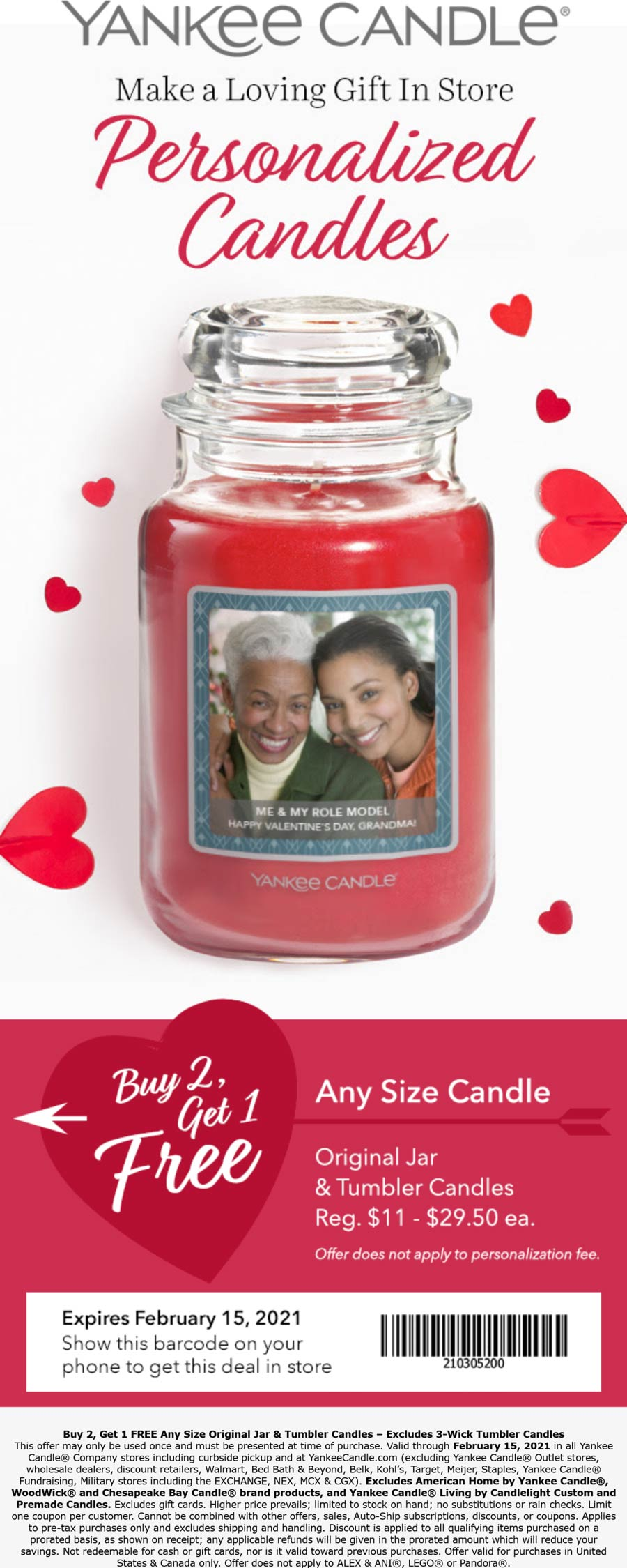Yankee Candle stores Coupon  3rd candle free at Yankee Candle #yankeecandle