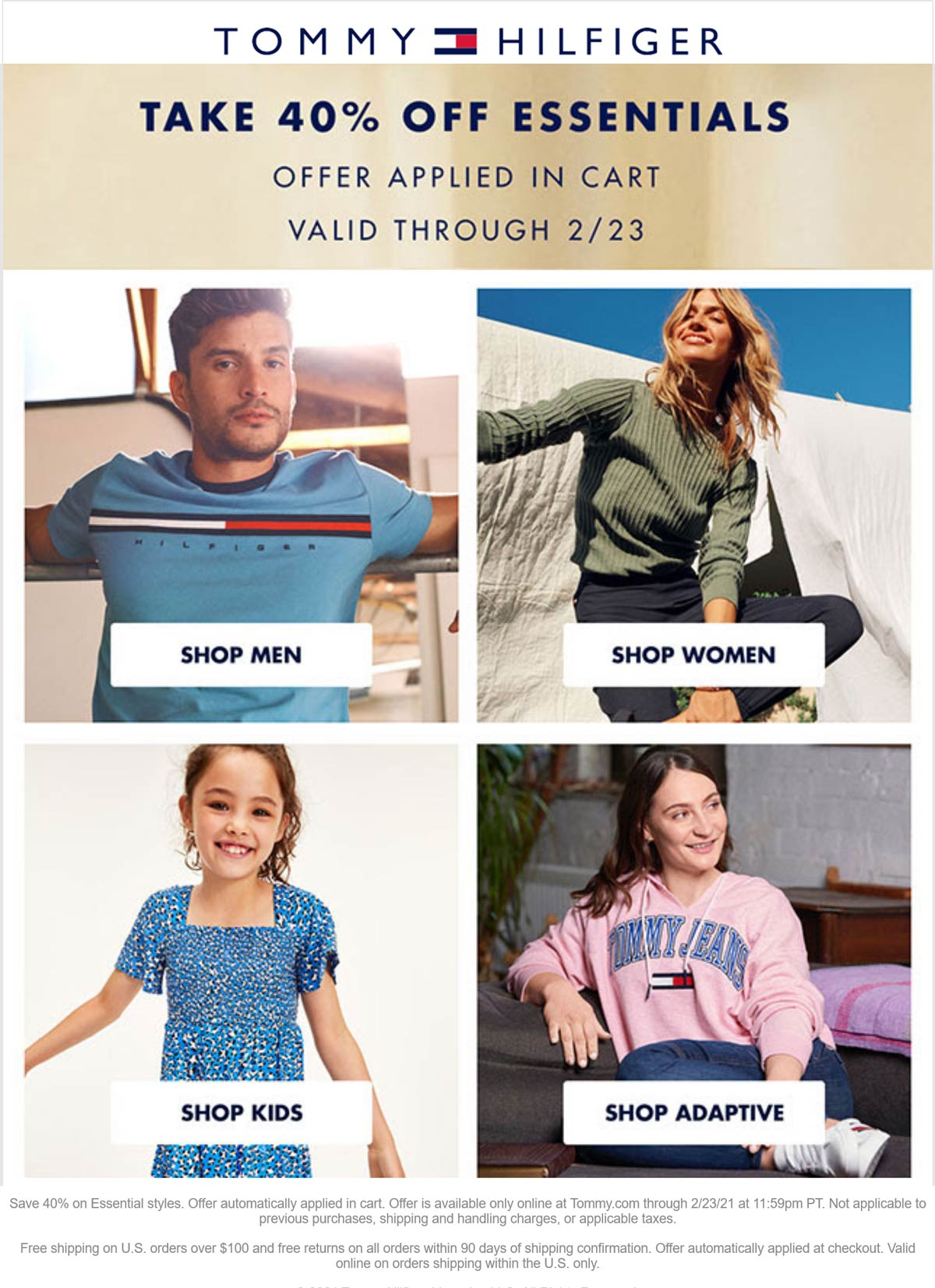 Tommy Hilfiger stores Coupon  40% off essentials online at Tommy Hilfiger #tommyhilfiger