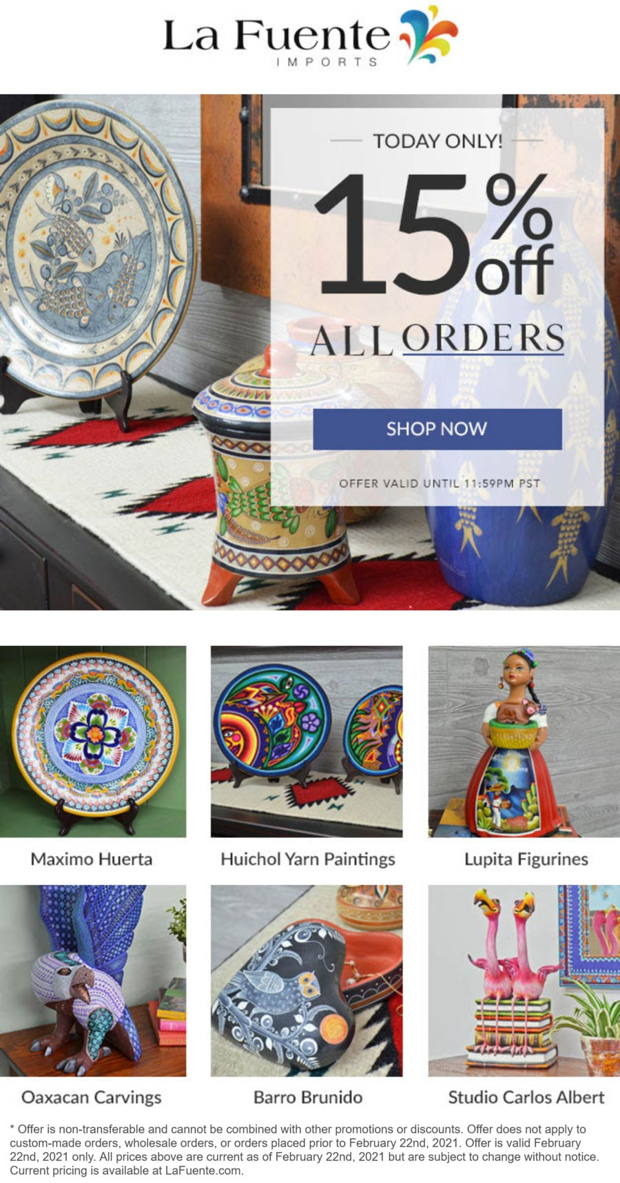 La Fuente Imports coupons & promo code for [March 2021]