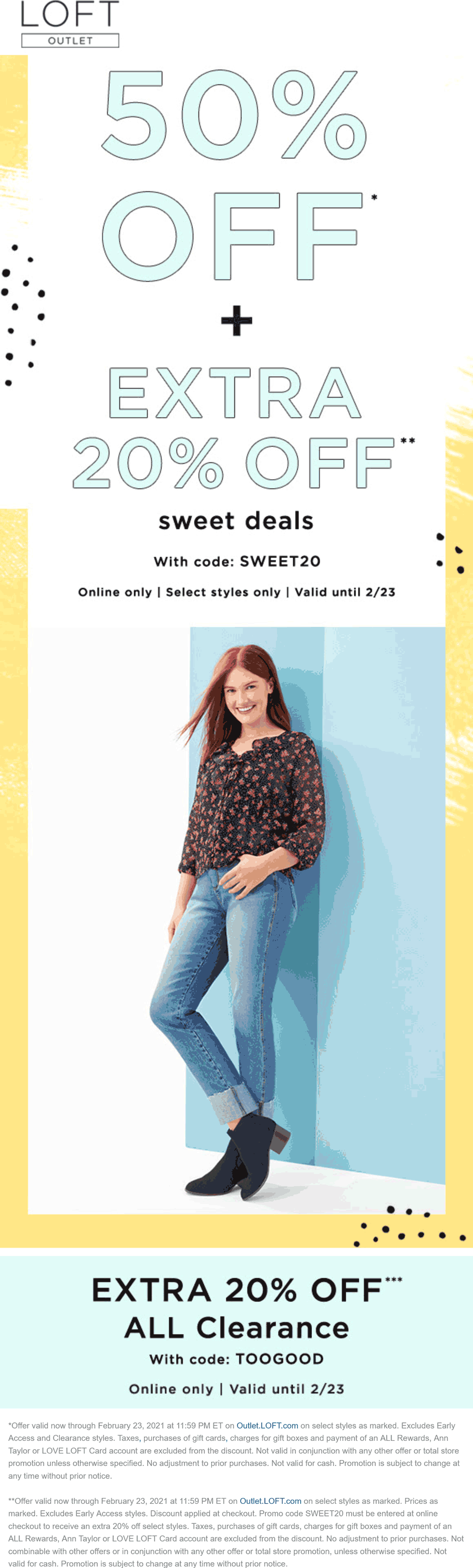 LOFT Outlet coupons & promo code for [April 2021]