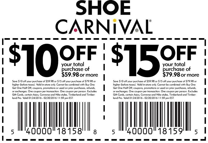 Shoe Carnival November 2020 Coupons and