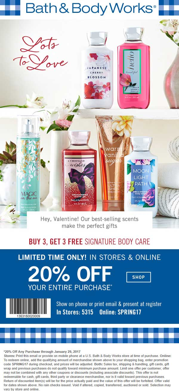 bath body works coupons free 2oz body lotion at bath body works no purchase necessary. Black Bedroom Furniture Sets. Home Design Ideas