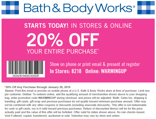 bath and body works free shipping coupon 2018