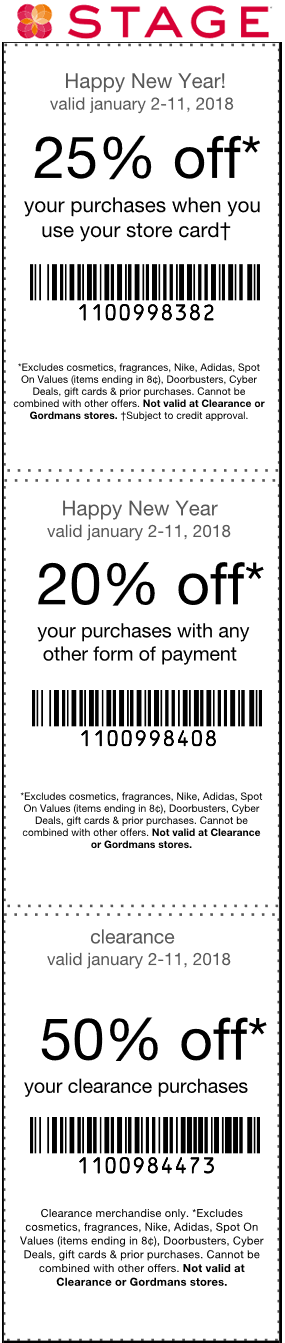 Stage coupons & promo code for [January 2021]