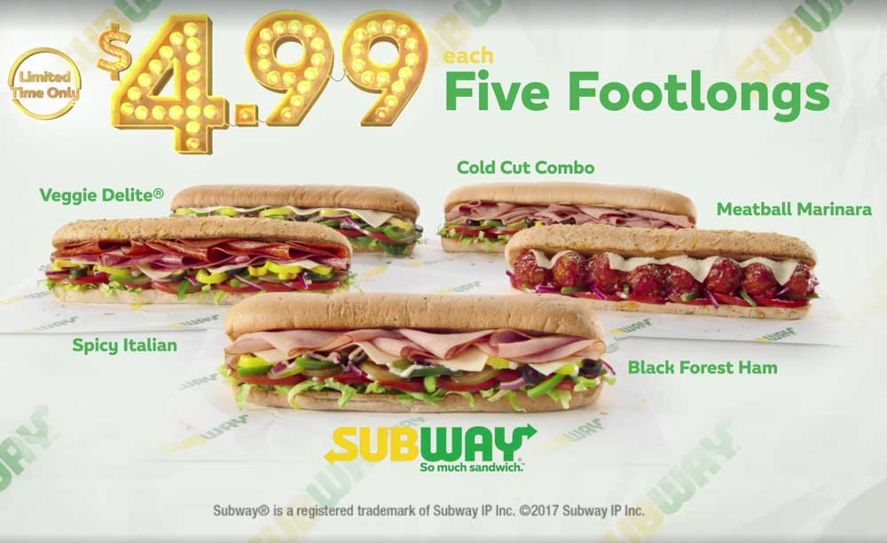 Subway coupons & promo code for [July 2020]