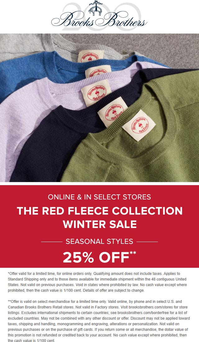 Brooks Brothers coupons & promo code for [January 2021]