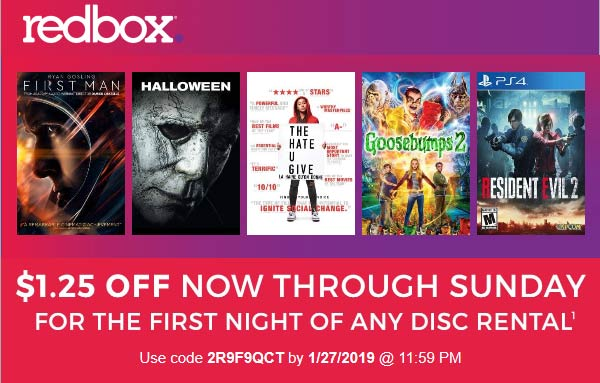 Redbox coupons & promo code for [March 2020]