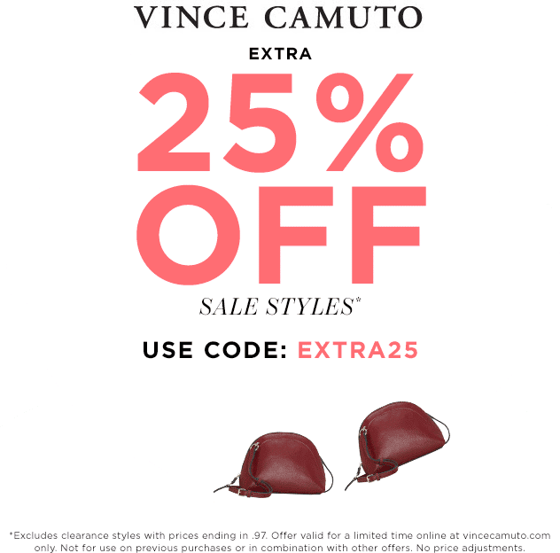 Vince Camuto coupons & promo code for [October 2020]