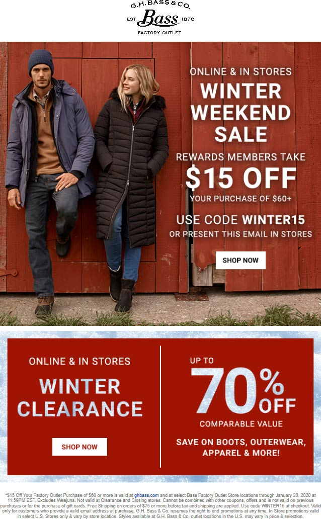 Bass Factory Outlet coupons & promo code for [February 2020]
