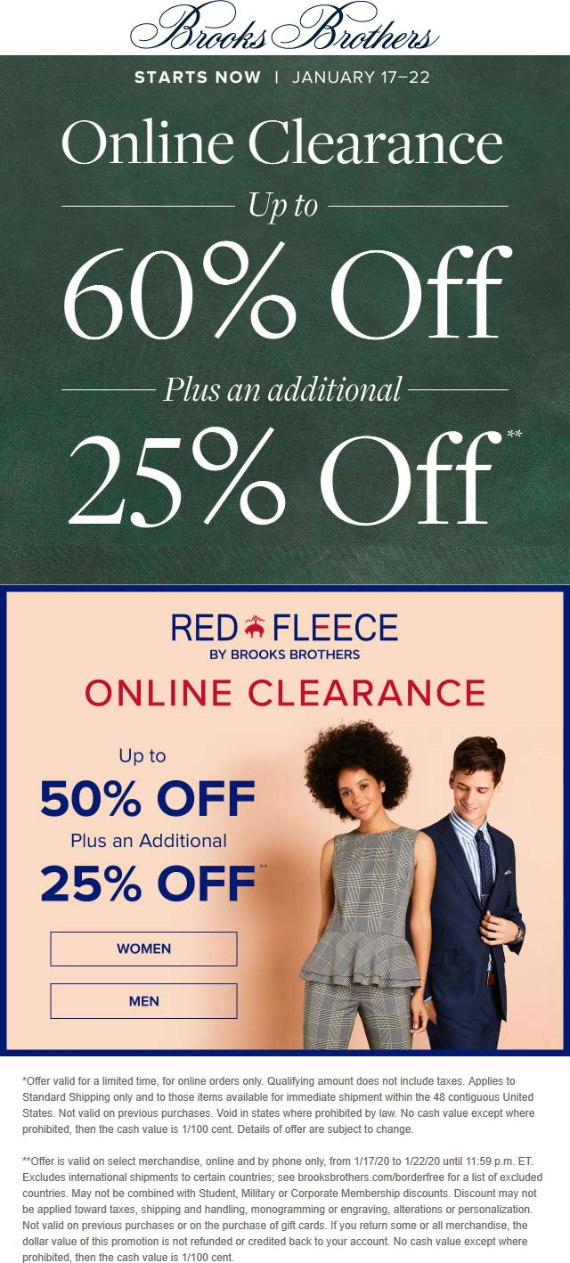 Brooks Brothers coupons & promo code for [April 2021]
