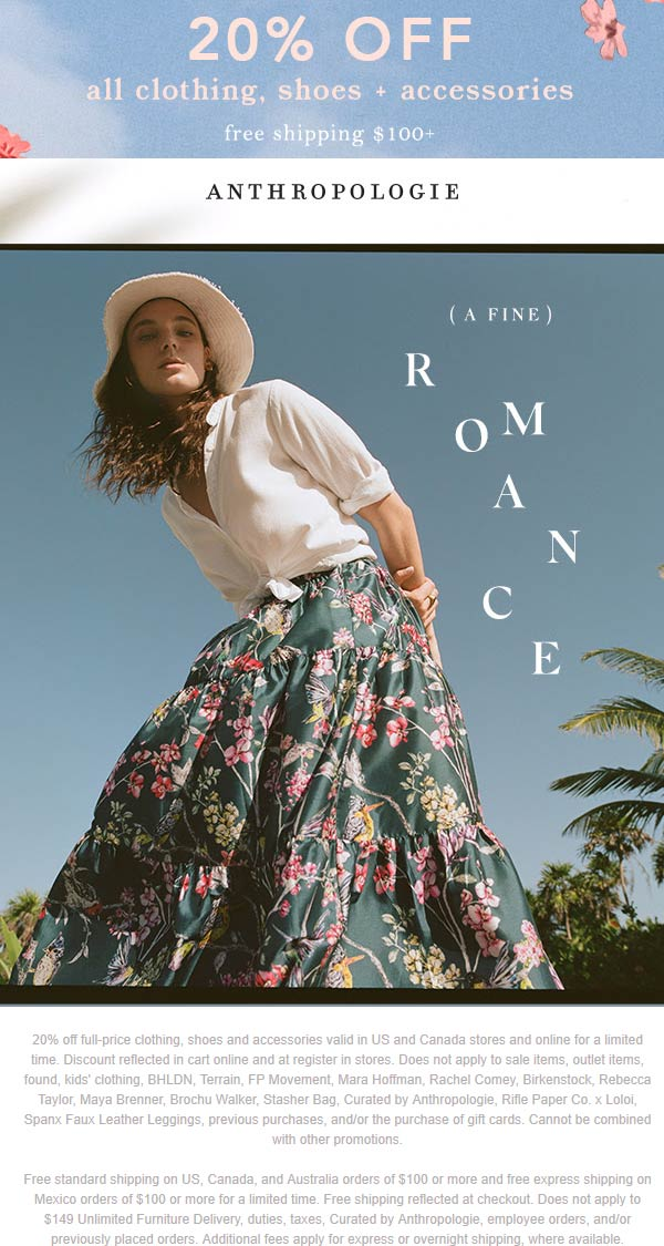 Anthropologie coupons & promo code for [February 2020]