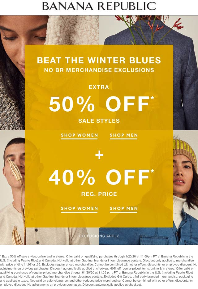 Banana Republic coupons & promo code for [February 2020]