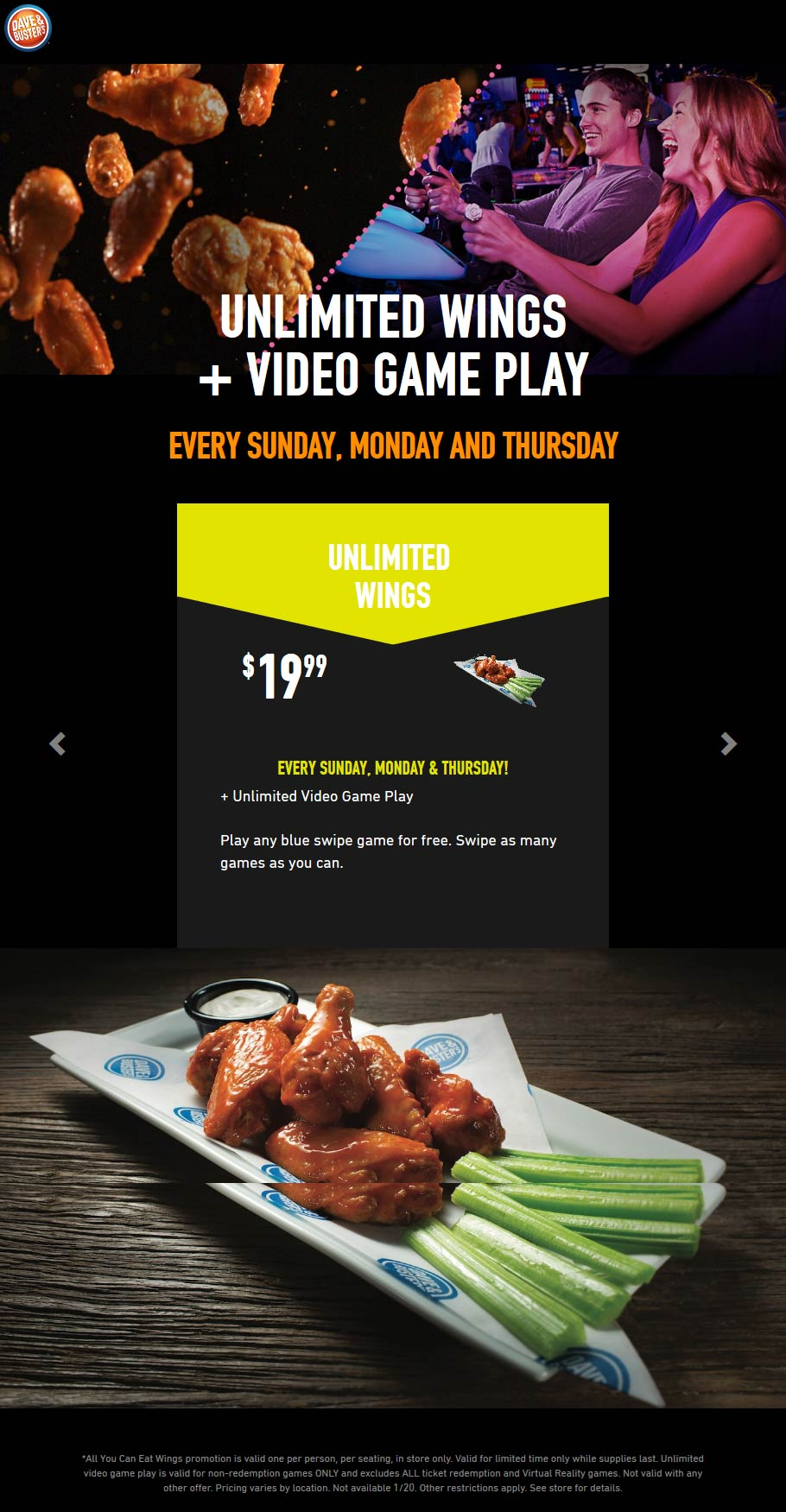 Dave & Busters coupons & promo code for [January 2021]