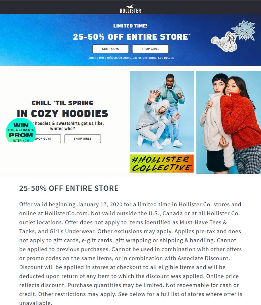 Hollister coupons & promo code for [April 2020]