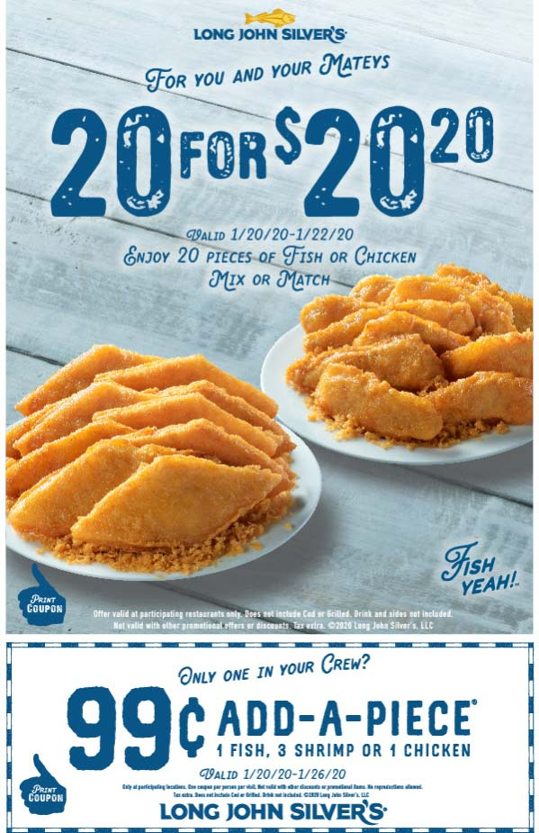 Long John Silvers coupons & promo code for [April 2021]