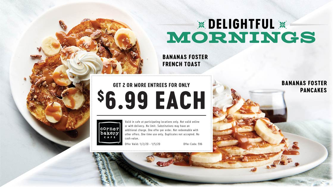 Corner Bakery coupons & promo code for [April 2021]