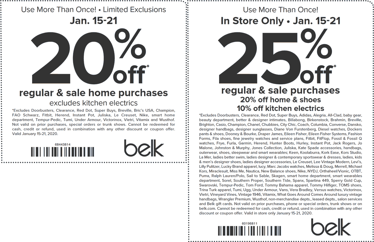 Belk coupons & promo code for [August 2020]