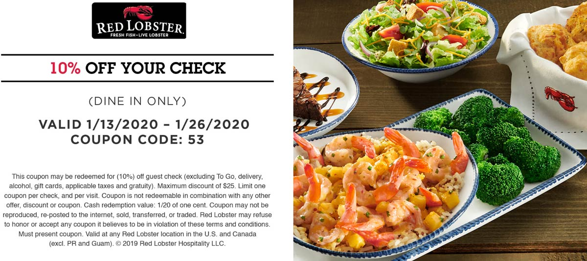 Red Lobster coupons & promo code for [July 2020]