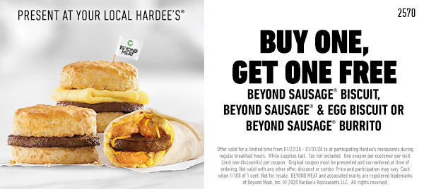 Hardees coupons & promo code for [April 2020]