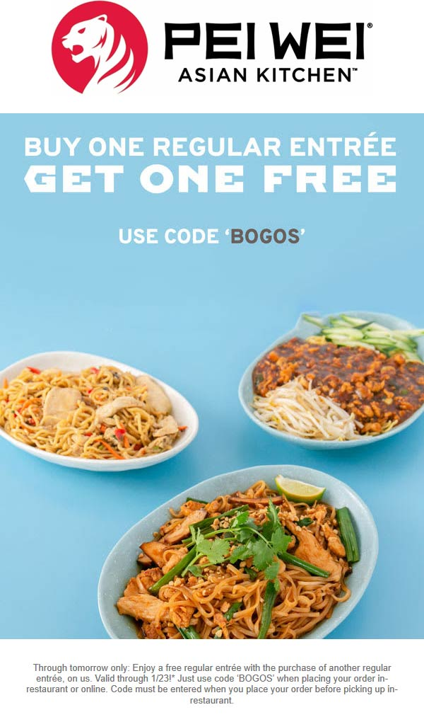Pei Wei coupons & promo code for [March 2021]