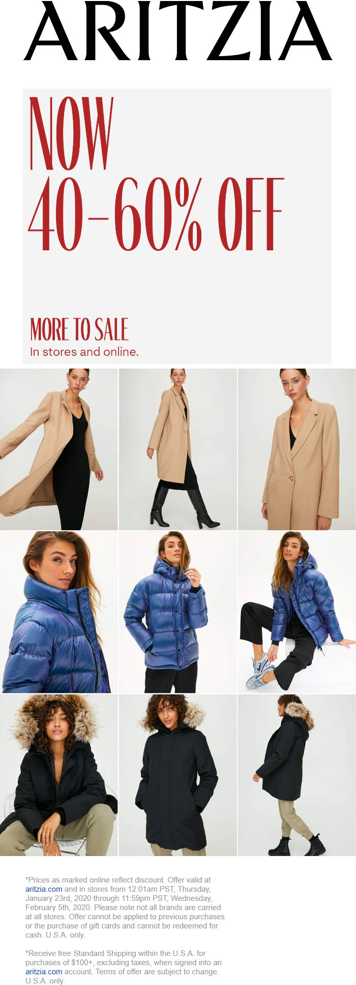 Aritzia coupons & promo code for [January 2021]