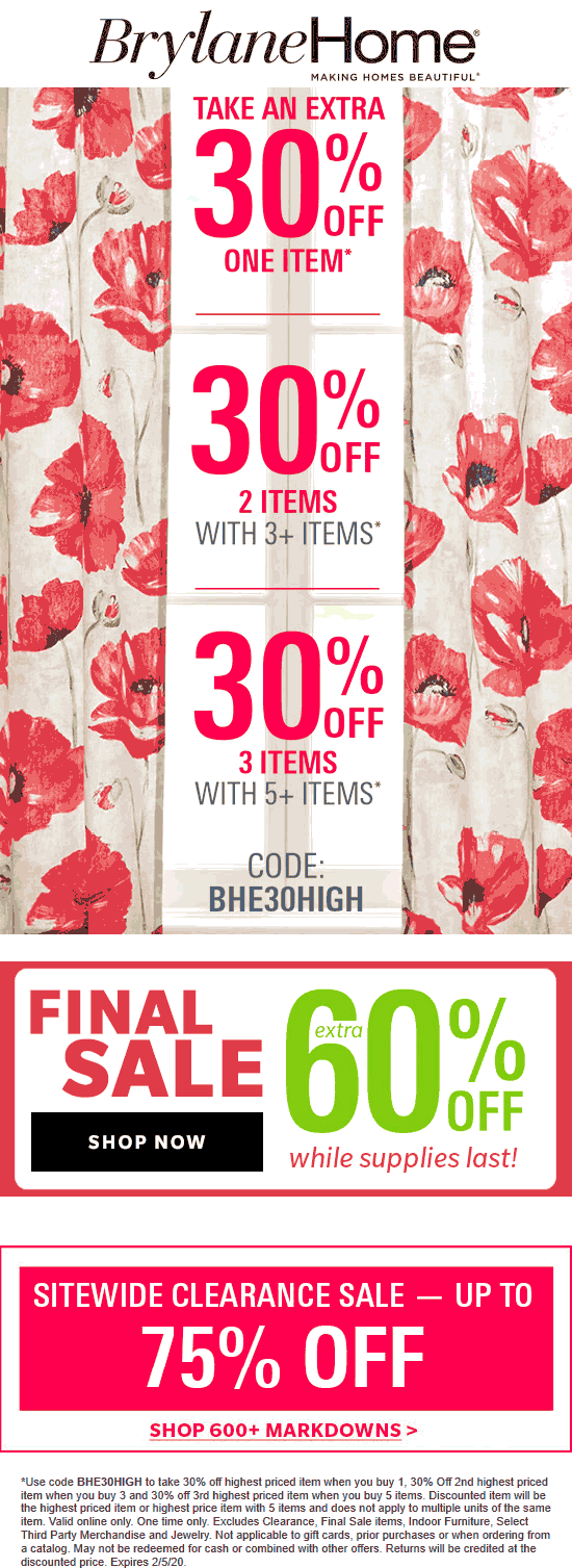 Brylane Home coupons & promo code for [March 2021]