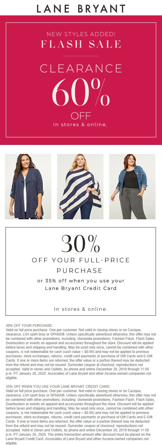 Lane Bryant coupons & promo code for [February 2020]