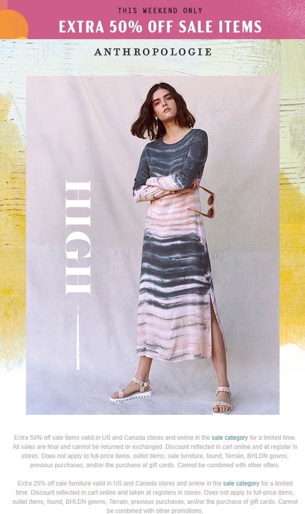 Anthropologie coupons & promo code for [July 2020]