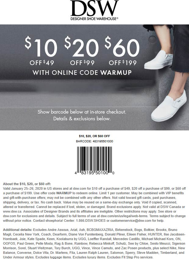DSW coupons & promo code for [October 2020]