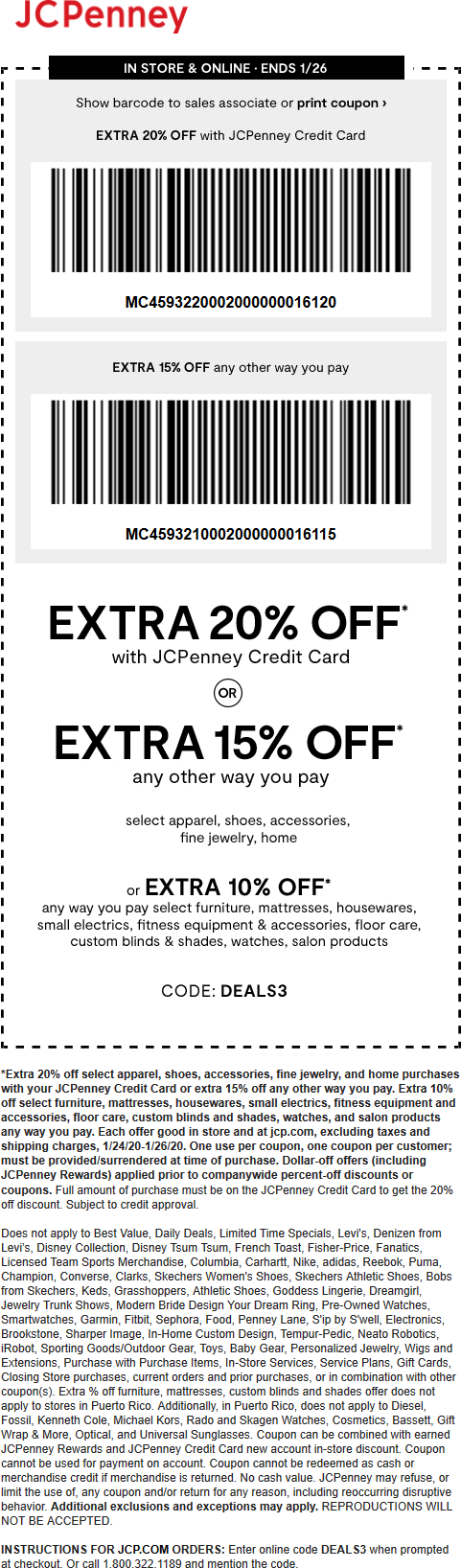 JCPenney coupons & promo code for [October 2020]