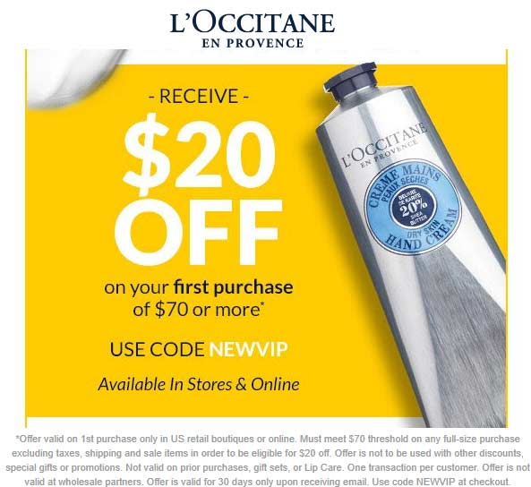 LOccitane coupons & promo code for [April 2020]