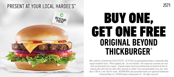 Hardees coupons & promo code for [December 2020]