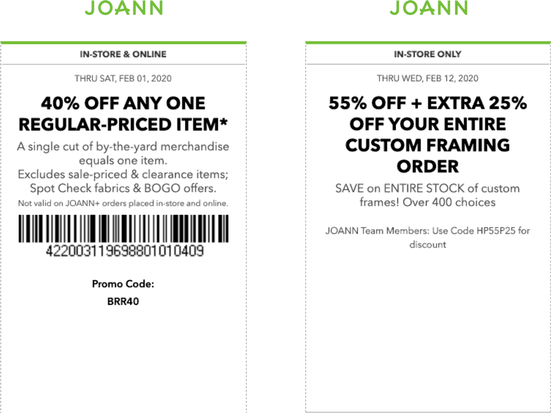 Joann coupons & promo code for [April 2021]
