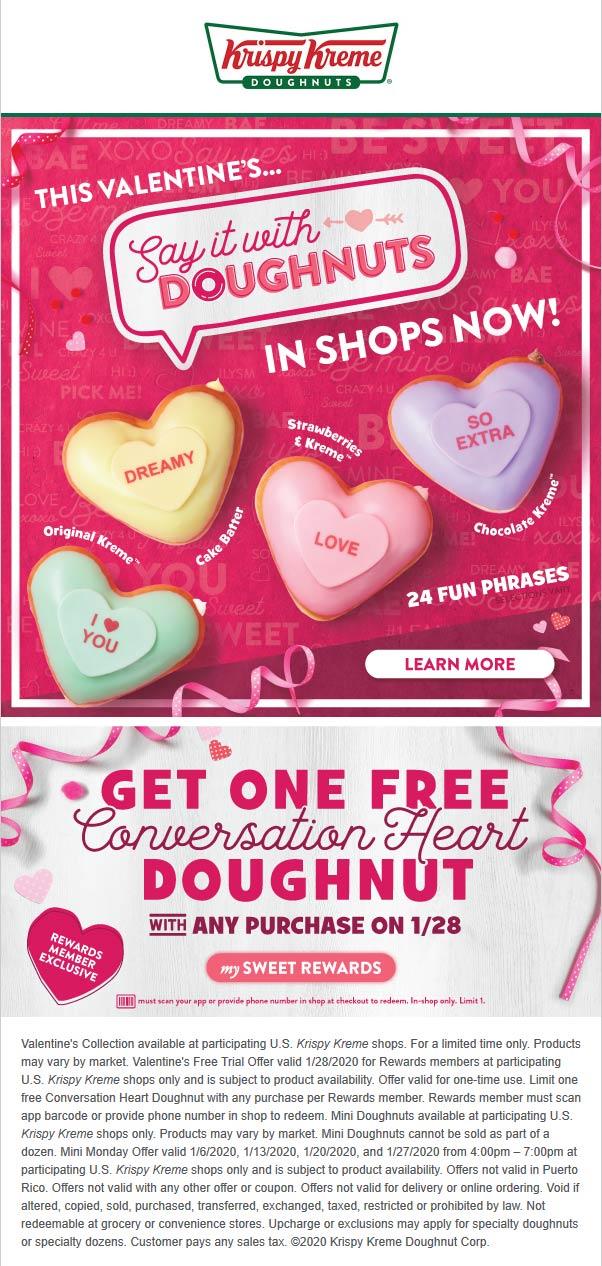 Krispy Kreme coupons & promo code for [July 2020]