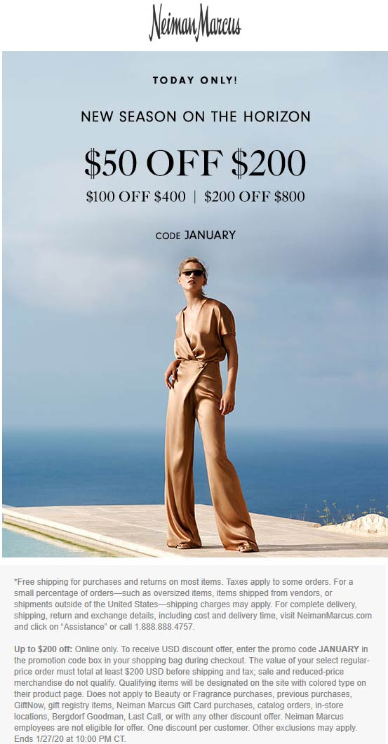 Neiman Marcus coupons & promo code for [July 2020]