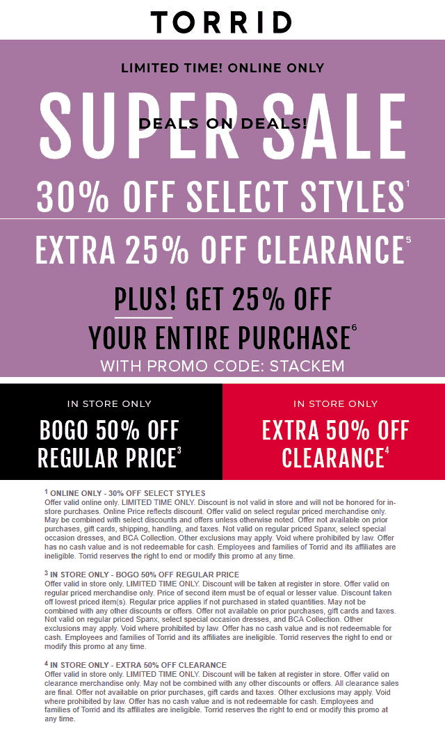 Torrid coupons & promo code for [August 2020]