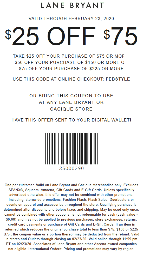 Lane Bryant coupons & promo code for [January 2021]