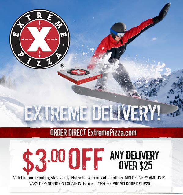 Extreme Pizza coupons & promo code for [December 2020]