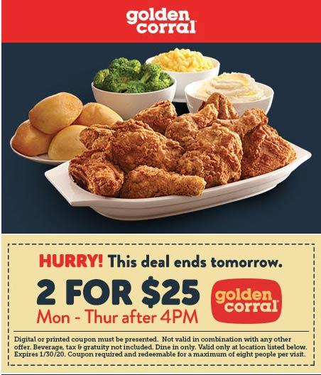 Golden Corral coupons & promo code for [February 2021]