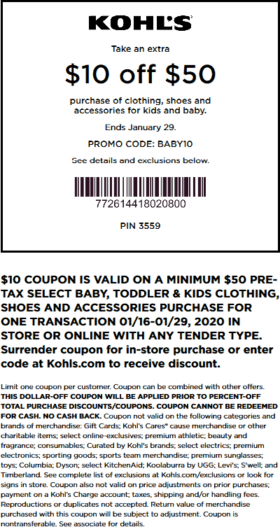Kohls coupons & promo code for [August 2020]