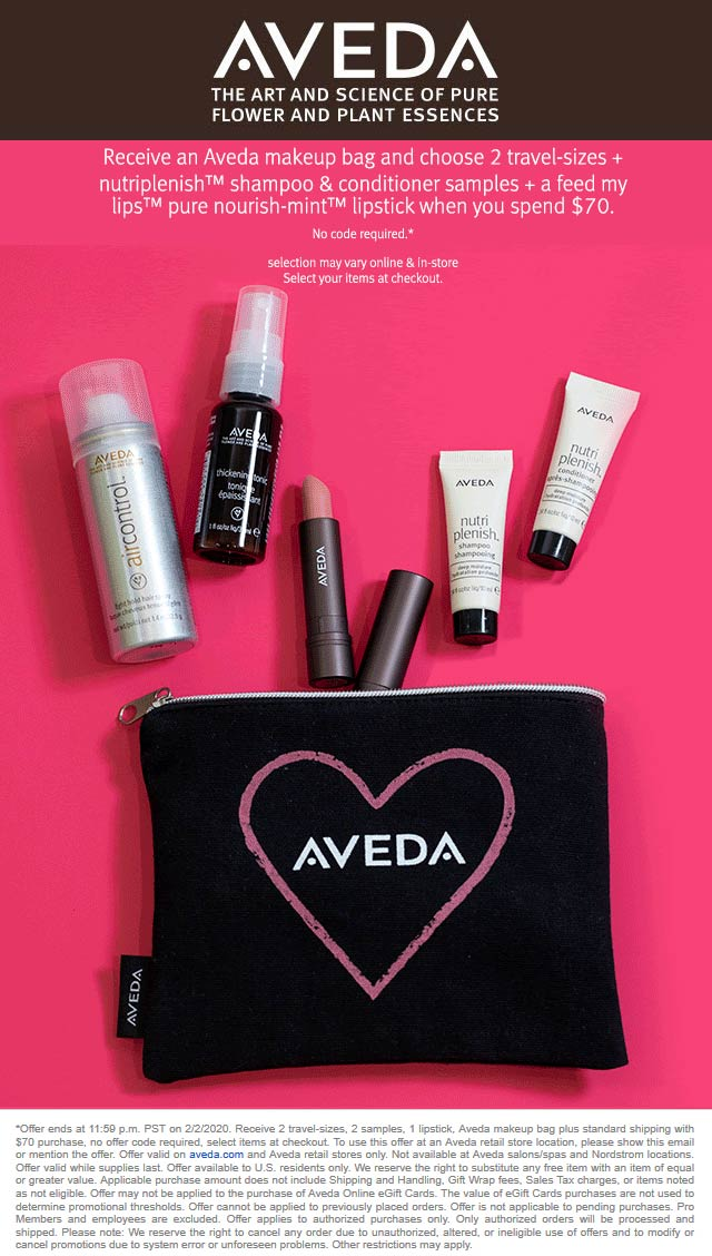 Aveda coupons & promo code for [January 2021]