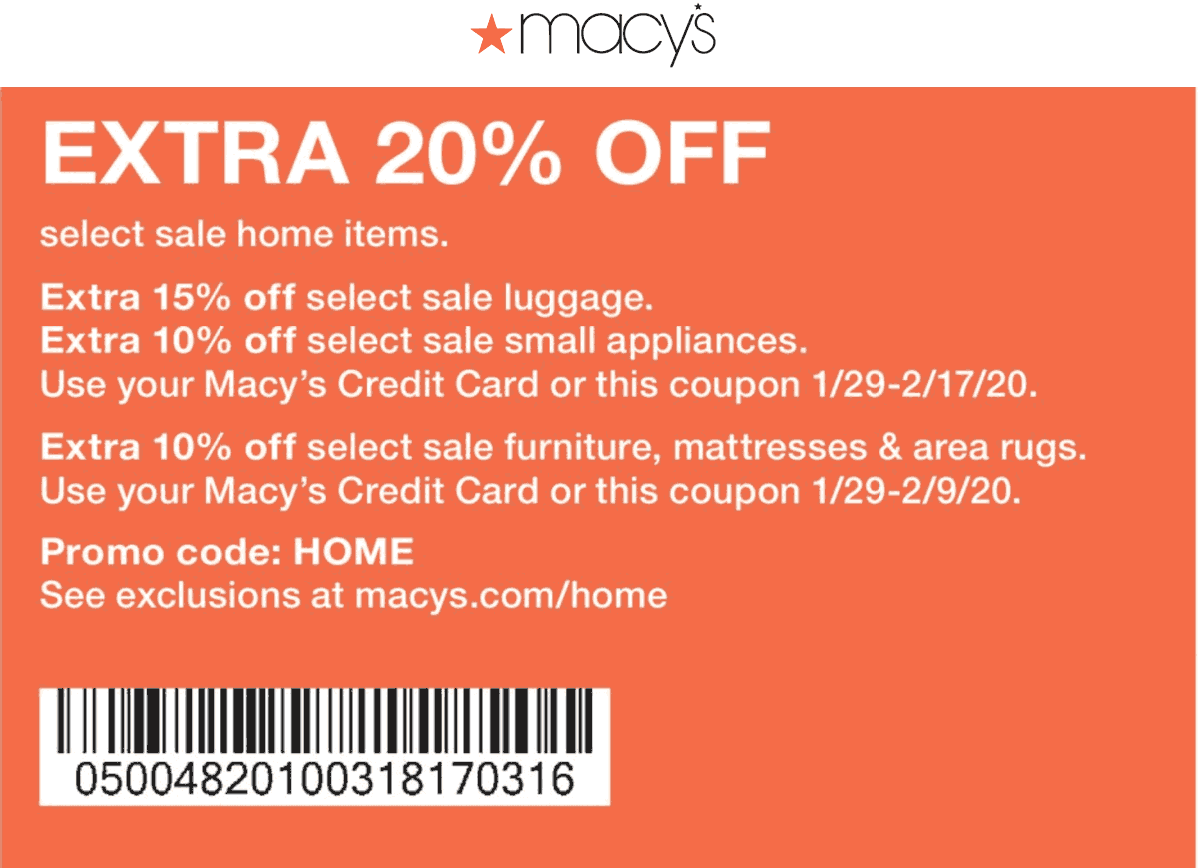 Macys coupons & promo code for [December 2020]
