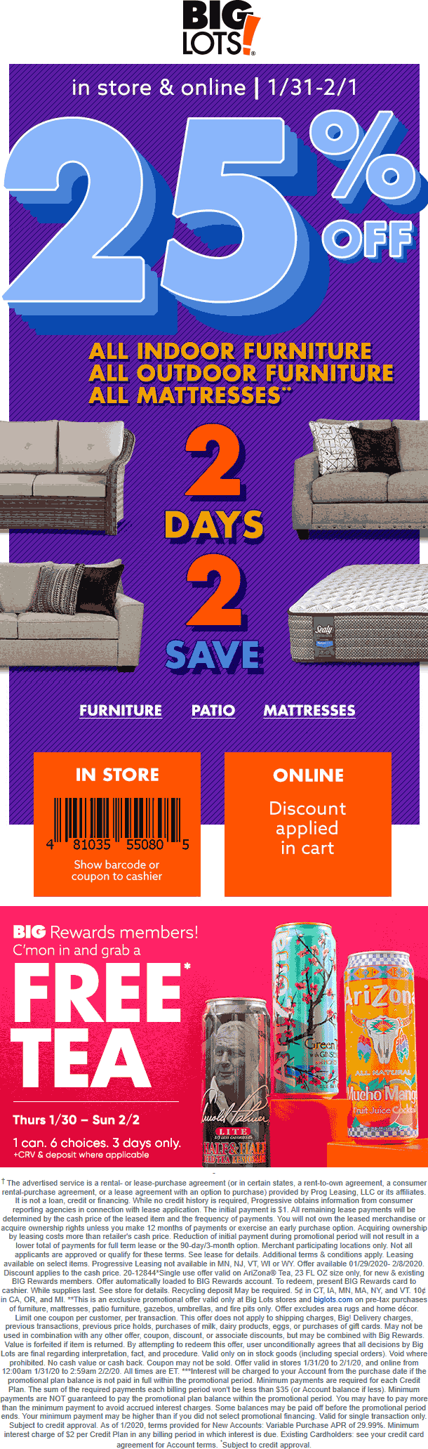 Big Lots coupons & promo code for [February 2020]