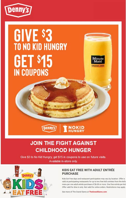 Dennys coupons & promo code for [July 2020]