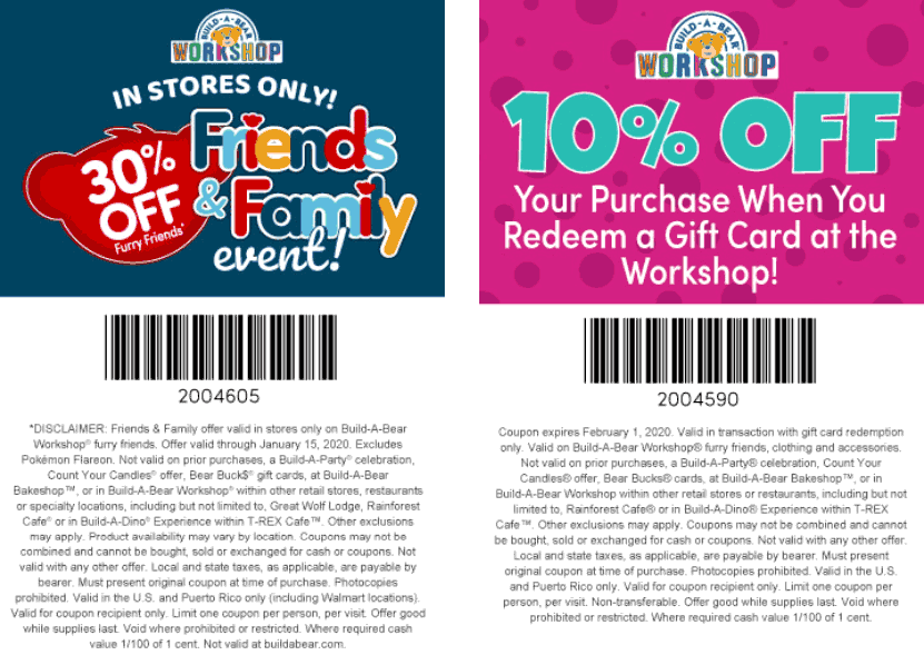 Build-A-Bear coupons & promo code for [January 2021]