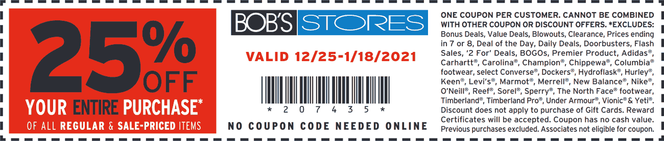 Bobs Stores coupons & promo code for [January 2021]
