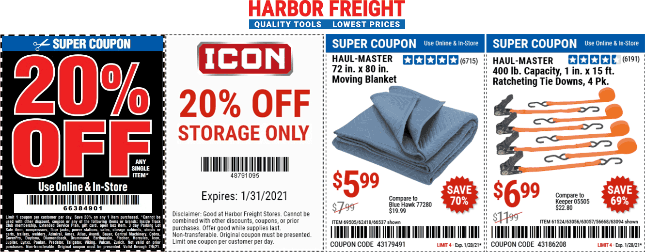 Harbor Freight coupons & promo code for [February 2021]