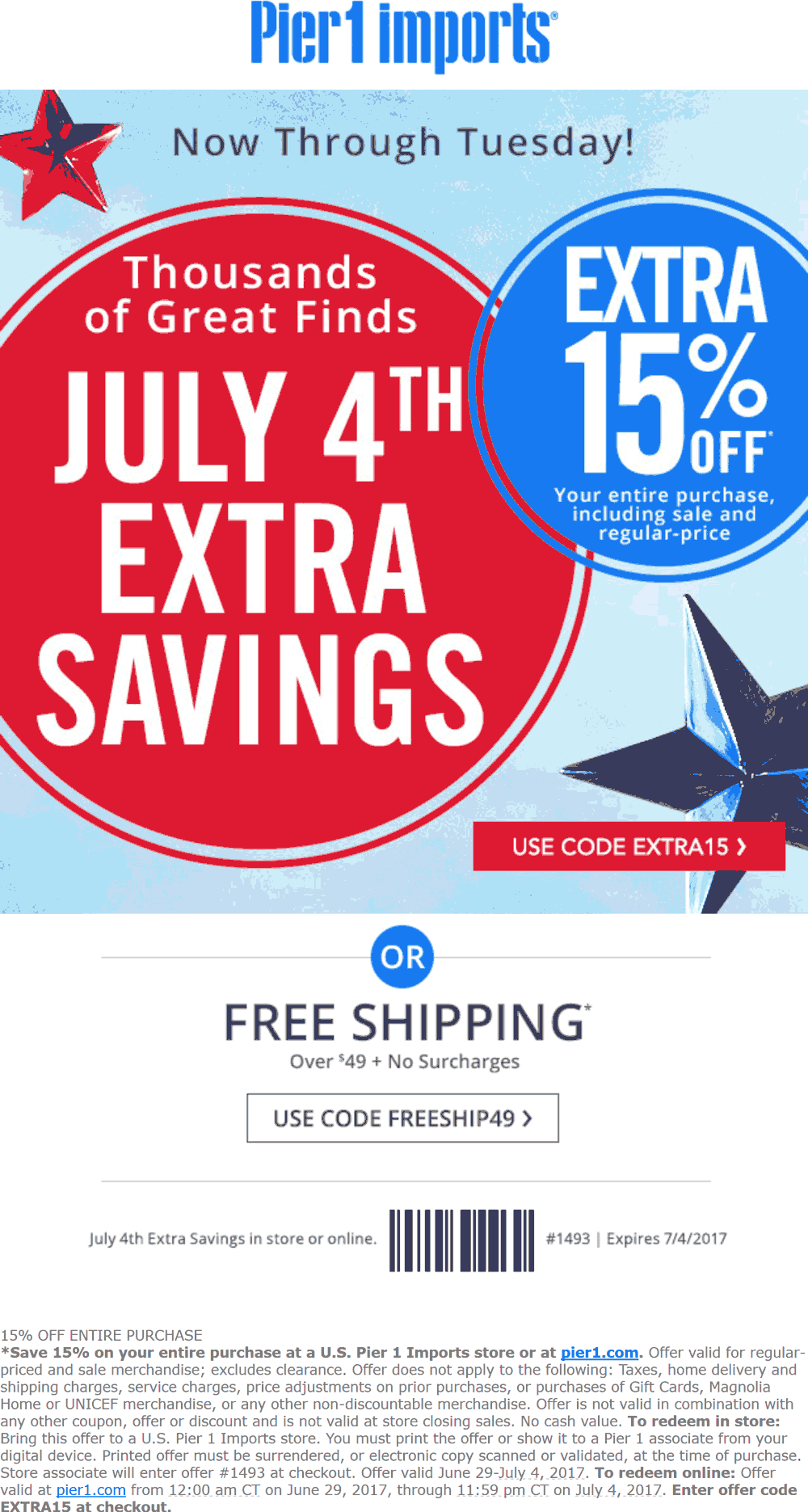 pier 1 coupons july 2019