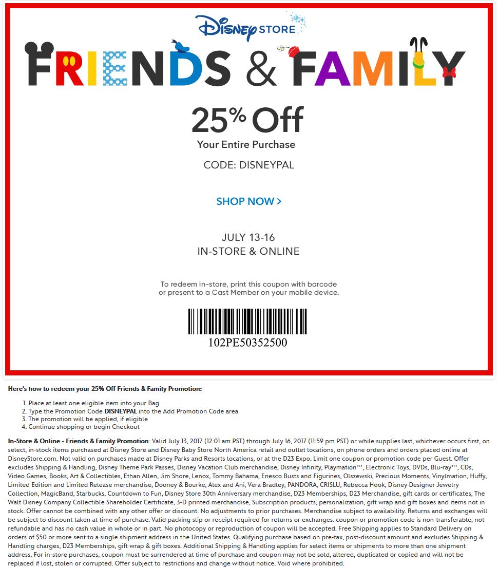 disney store online discount code