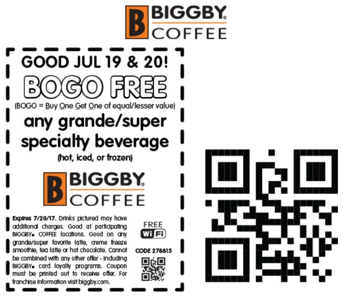 bogo biggby 2019